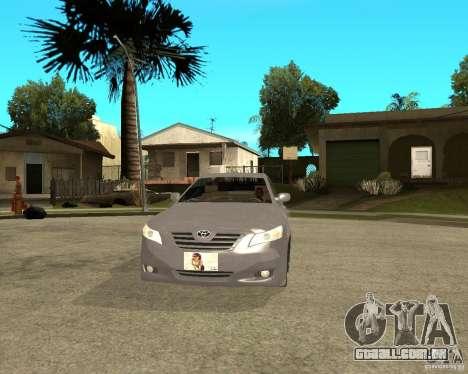 Toyota Camry XV40 2007 para GTA San Andreas vista traseira