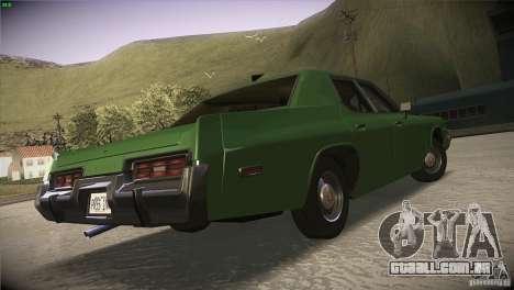 Dodge Monaco para GTA San Andreas vista interior