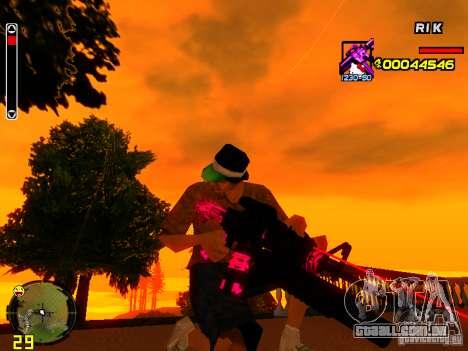 Hello Kitty weapon para GTA San Andreas por diante tela