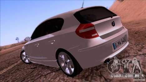 BMW 120i 2009 para GTA San Andreas vista direita