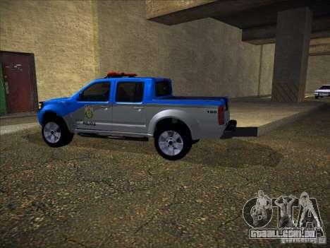 Nissan Frontier PMERJ para GTA San Andreas vista traseira