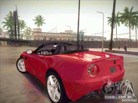 Alfa Romeo 8C Spider para GTA San Andreas esquerda vista