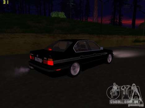BMW E34 Alpina B10 Bi-Turbo para GTA San Andreas vista direita
