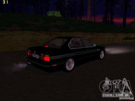 BMW E34 Alpina B10 Bi-Turbo para GTA San Andreas vista direita