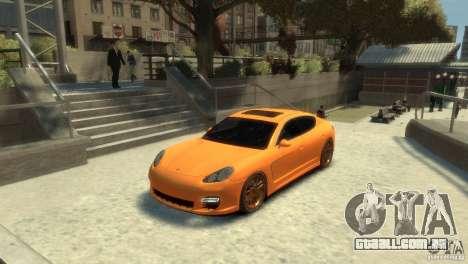 PORSCHE Panamera Turbo para GTA 4 traseira esquerda vista