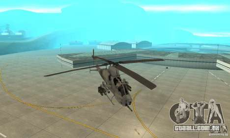 Hunter - AH-1Z Cobra para GTA San Andreas vista traseira