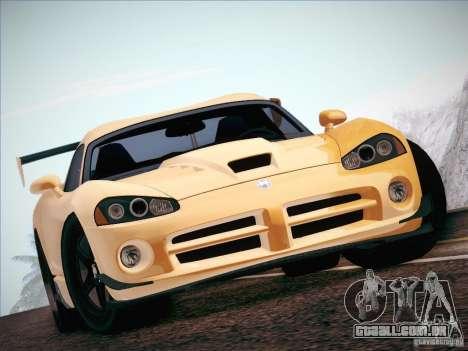 Dodge Viper SRT-10 ACR para GTA San Andreas vista interior