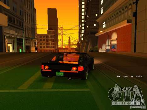 New Sultan para GTA San Andreas vista traseira