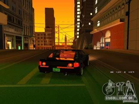 New Sultan para GTA San Andreas vista traseira