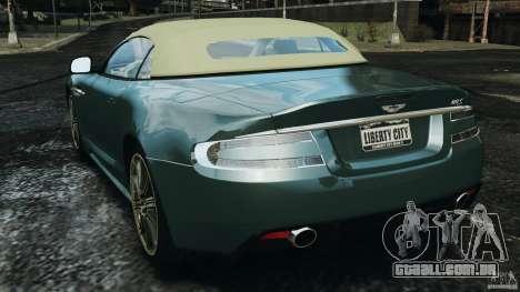 Aston Martin DBS Volante [Final] para GTA 4 traseira esquerda vista