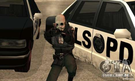 Police Man para GTA San Andreas quinto tela