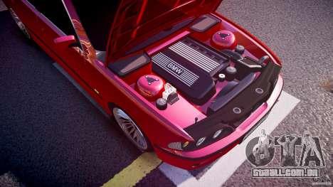 BMW 530I E39 stock chrome wheels para GTA 4 vista inferior