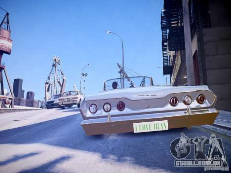 Chevrolet Impala 63 para GTA 4 traseira esquerda vista