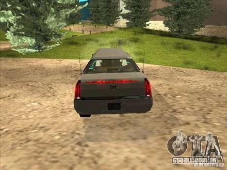 Cadillac DTS 2008 Limousine para GTA San Andreas vista direita