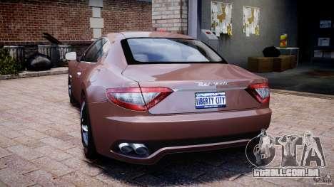 Maserati GranTurismo v1.0 para GTA 4 traseira esquerda vista