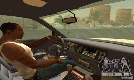 Ford Crown Victoria Texas Police para GTA San Andreas traseira esquerda vista