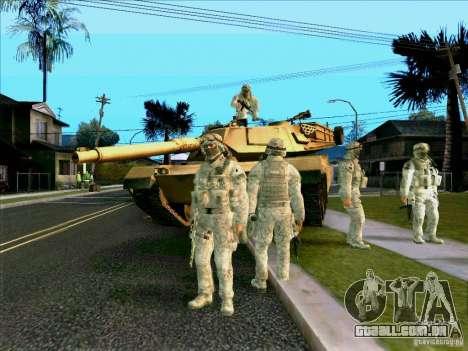 Camuflagem eletrônica Morpeh para GTA San Andreas por diante tela