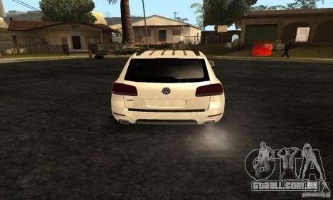 Volkswagen Touareg Dag Style para GTA San Andreas traseira esquerda vista