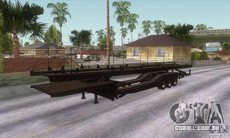O caminhão de reboque para GTA San Andreas traseira esquerda vista