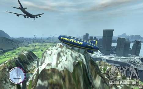 Dirigível para GTA 4 vista interior