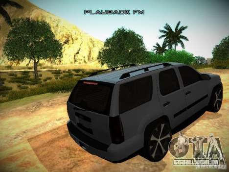 Chevrolet Tahoe HD Rimz para GTA San Andreas vista interior