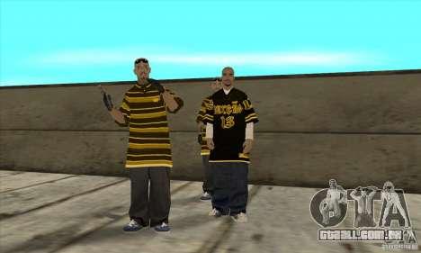 Substituir todos os skins Los Santos Vagos Gang para GTA San Andreas por diante tela