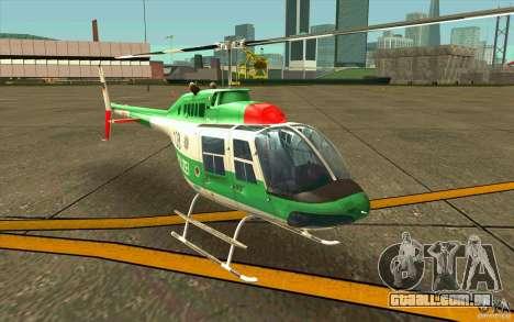 Bell 206 B Police texture3 para GTA San Andreas esquerda vista