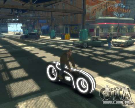 Motocicleta do trono (neon cinza) para GTA 4 vista direita