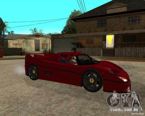 Ferrari F50 - style DTM TUNING para GTA San Andreas vista direita