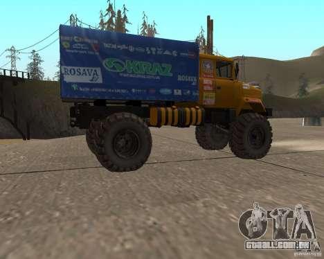 KrAZ monstro para GTA San Andreas esquerda vista