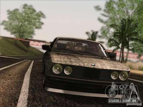 BMW E28 525E RatStyle para vista lateral GTA San Andreas