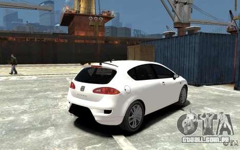 Seat Leon Cupra Light Tuning para GTA 4 vista direita