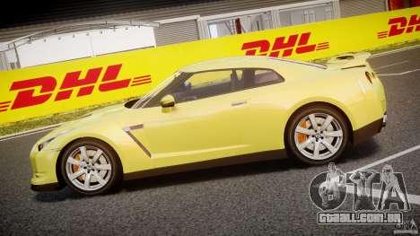 Nissan GT-R R35 2010 v1.3 para GTA 4 esquerda vista