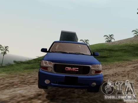 GMC Yukon Denali XL para GTA San Andreas vista traseira