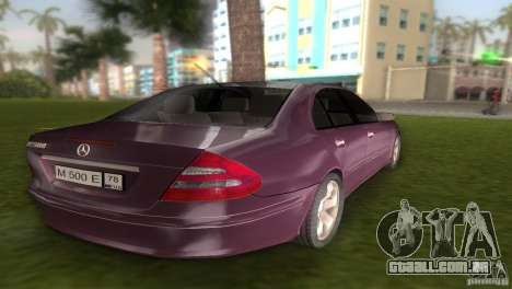 Mercedes E-class E500 para GTA Vice City vista traseira esquerda