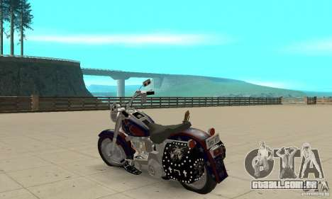 Harley Davidson FLSTF (Fat Boy) v2.0 Skin 4 para GTA San Andreas traseira esquerda vista