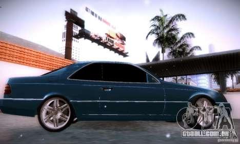 Mercedes-Benz 600SEC para GTA San Andreas esquerda vista