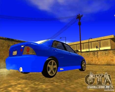 Toyota Altezza RS200 1998 para GTA San Andreas traseira esquerda vista