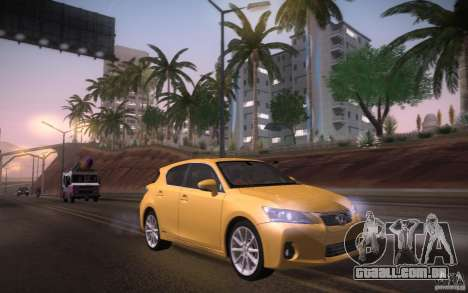 Lexus CT200H 2011 para GTA San Andreas