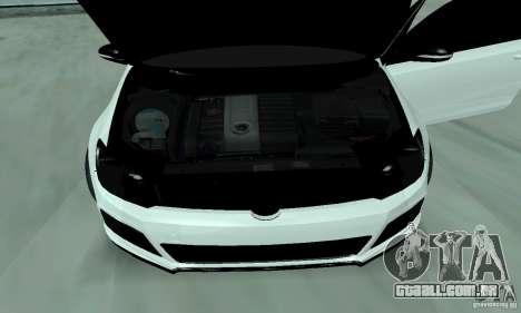 Volkswagen Golf R Modifiye para GTA San Andreas vista traseira