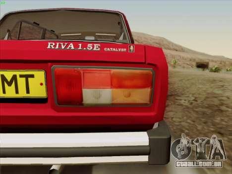 2105 Lada RIVA (exportação) 2.0 para vista lateral GTA San Andreas