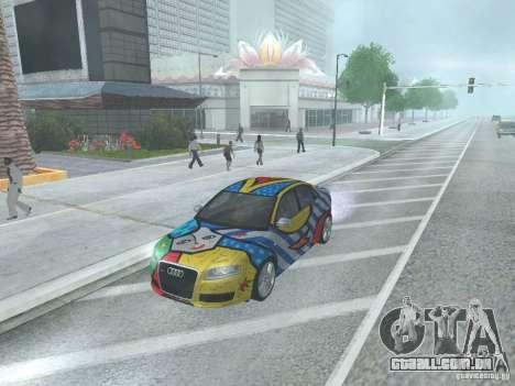 Audi RS 4 para GTA San Andreas traseira esquerda vista