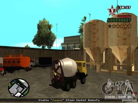 KAMAZ 53112 betoneira para GTA San Andreas esquerda vista