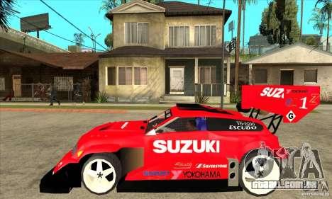 Suzuki Escudo Pikes Peak V2.0 para GTA San Andreas esquerda vista