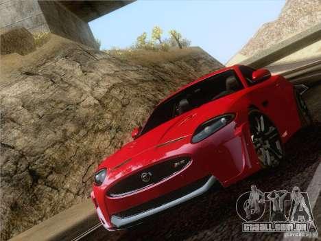 Jaguar XKR-S 2011 V2.0 para GTA San Andreas traseira esquerda vista