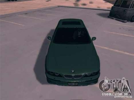 BMW M5 E39 2003 para GTA San Andreas traseira esquerda vista