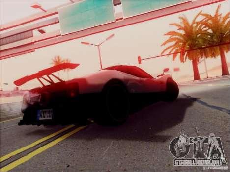 Pagani Zonda Cinque para GTA San Andreas vista superior