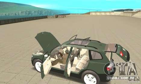 BMW X3 2.5i 2003 para GTA San Andreas vista superior