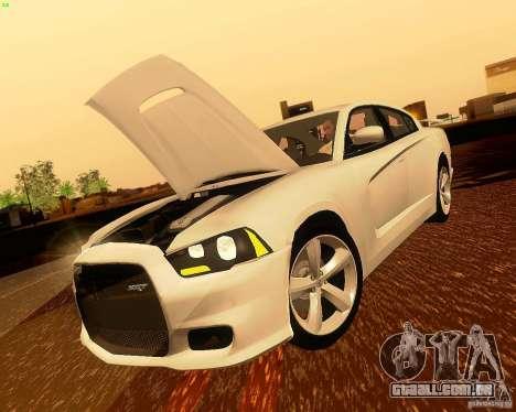 Dodge Charger SRT8 2012 para vista lateral GTA San Andreas