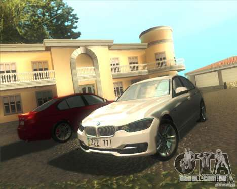 BMW 3 Series F30 2012 para vista lateral GTA San Andreas